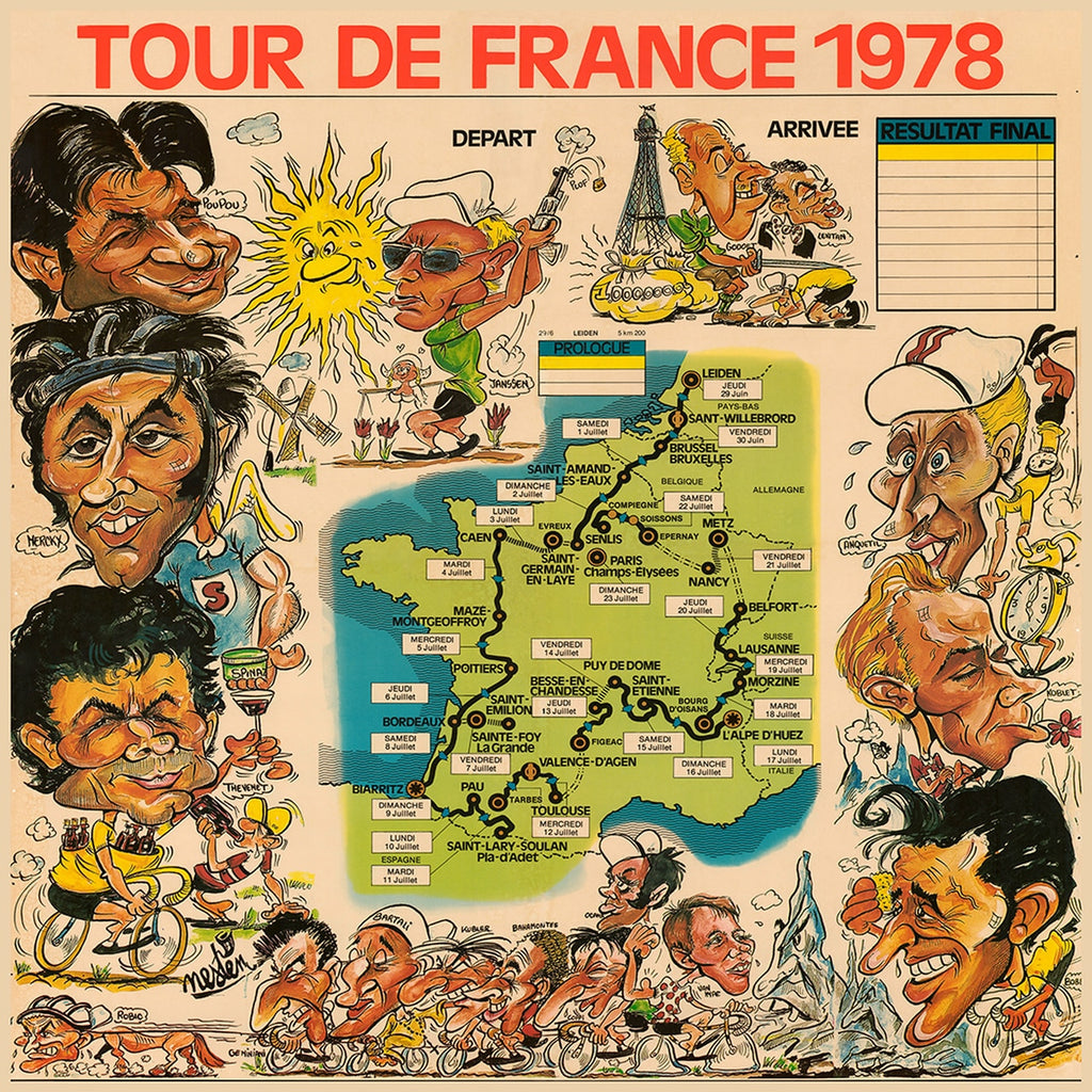 1978 Tour De France Caricatures Poster
