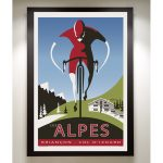 The Alpes Art Print - MOLTENI CYCLING