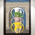Arc de Triomphe Tour de France Art Print - MOLTENI CYCLING