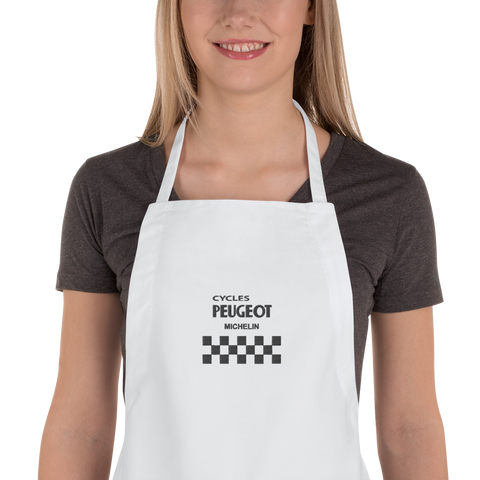 Cycles Peugeot Embroidered Apron