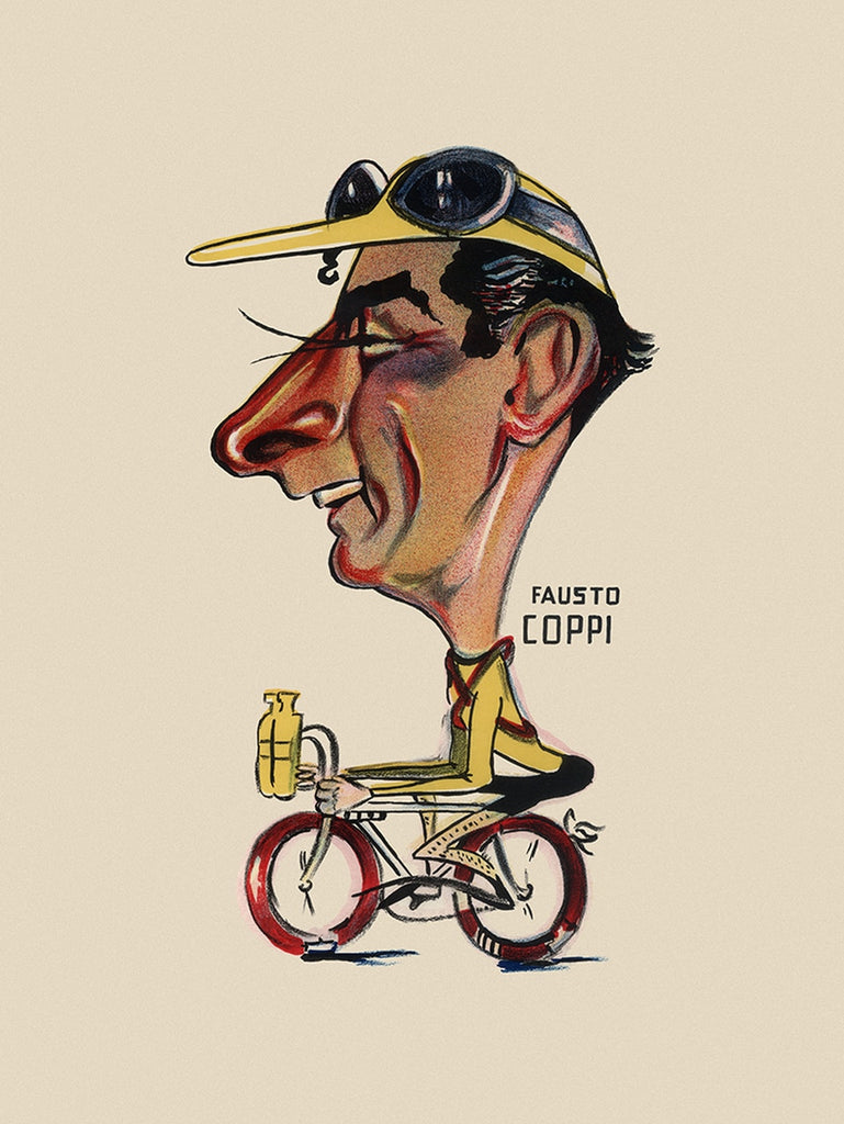 GIRO D'ITALIA Fausto Coppi Bicycle Poster - MOLTENI CYCLING