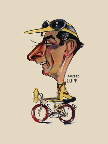 GIRO D'ITALIA Fausto Coppi Bicycle Poster