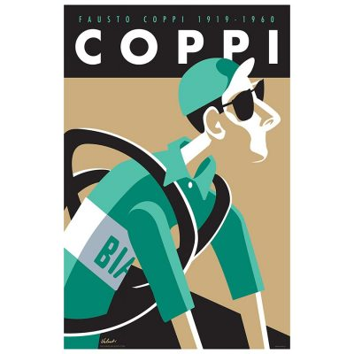 Fausto Coppi Cycling Legend Art Print