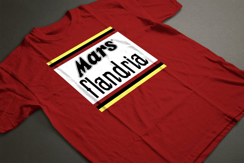 FLANDRIA CLASSIC RED T-SHIRT - MOLTENI CYCLING