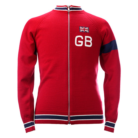 Great Britain Team Merino Wool Vintage Track Top - MOLTENI CYCLING