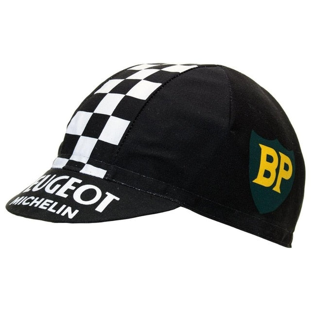 Black Peugeot Vintage Cycling Cap