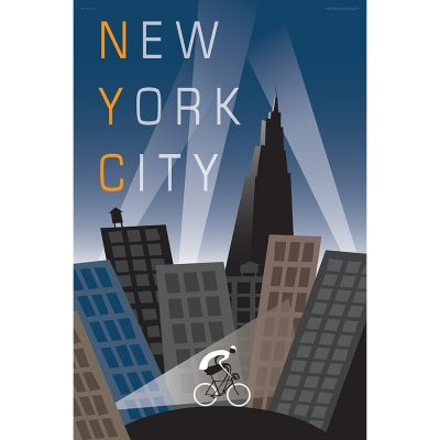 New York City Bicycle Art Print - MOLTENI CYCLING