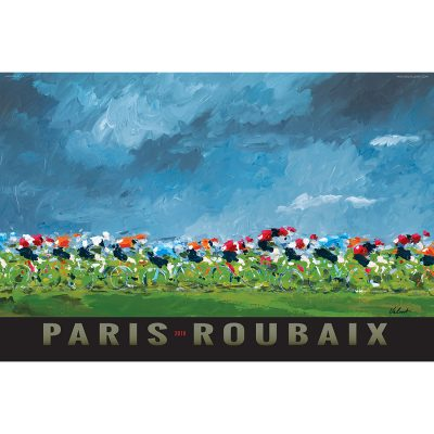 Paris-Roubaix 2018 Art Print - MOLTENI CYCLING
