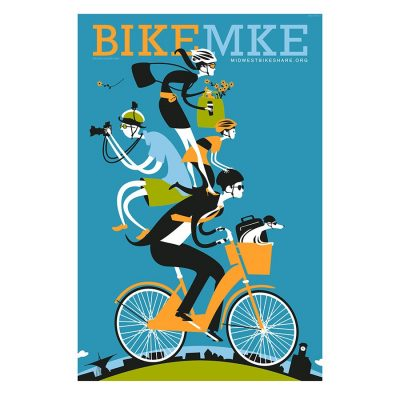 Bike Milwaukee Art Print