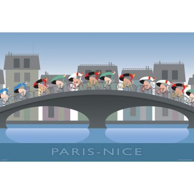 Paris Nice Art Print - MOLTENI CYCLING