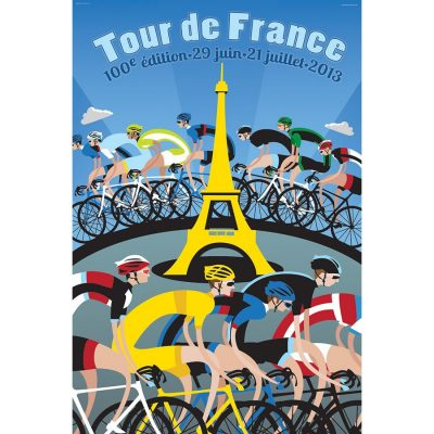 TdF Eiffel Tower Art Print - MOLTENI CYCLING