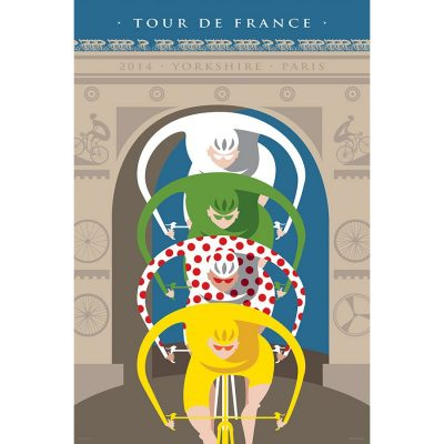 Arc de Triomphe Tour de France Art Print