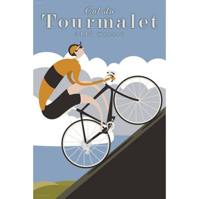 Col du Tourmalet Art Print - MOLTENI CYCLING