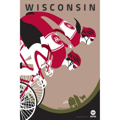 Wisconsin Bike Fed Art Print