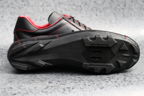 Sportivo Touring Nero Rosso - Black/Red Leather Shoe
