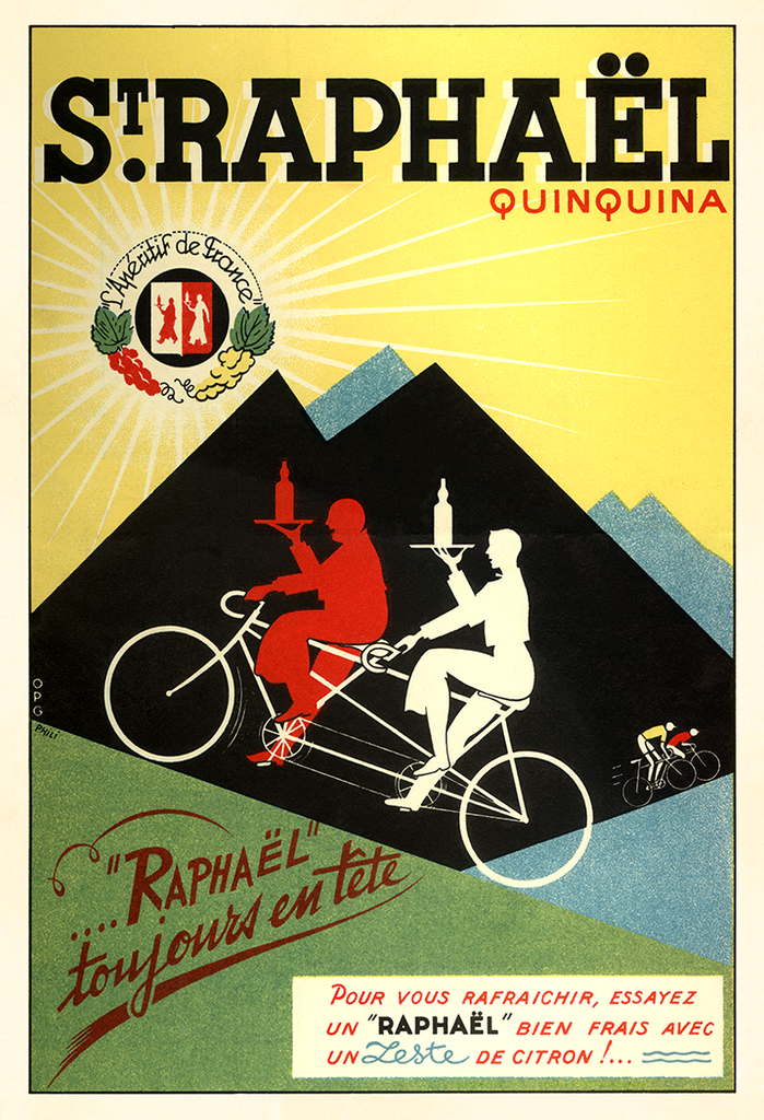 St Raphael Bicycle Poster - MOLTENI CYCLING