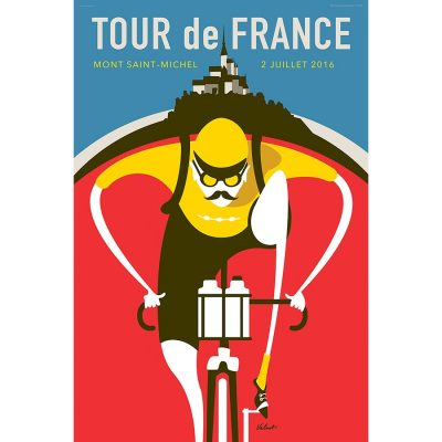 Tour de France Saint Michel Art Print