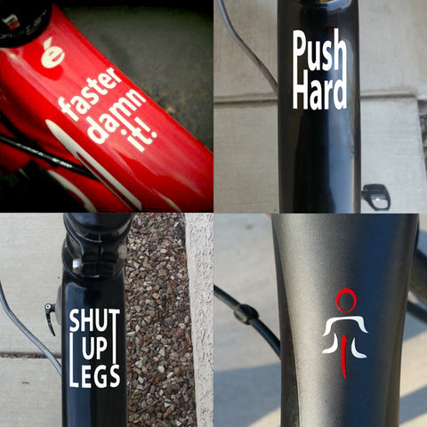 2 x Top Tube Decals. Faster damn it! - MOLTENI CYCLING