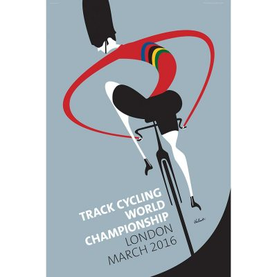 London World Championship Track Cycling Art Print