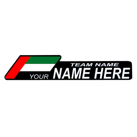 Custom Name Decals - MOLTENI CYCLING