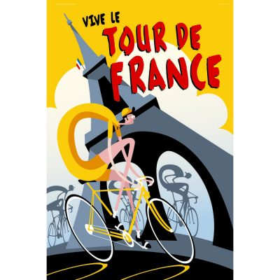 Vive le Tour de France Art Print
