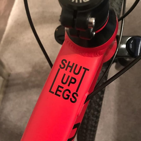 2 x  Top Tube Decals. Shut up legs - MOLTENI CYCLING