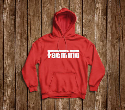 RETRO FAEMINO RED AND BLACK HOODIE
