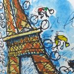 TdF Paris Art Print - MOLTENI CYCLING