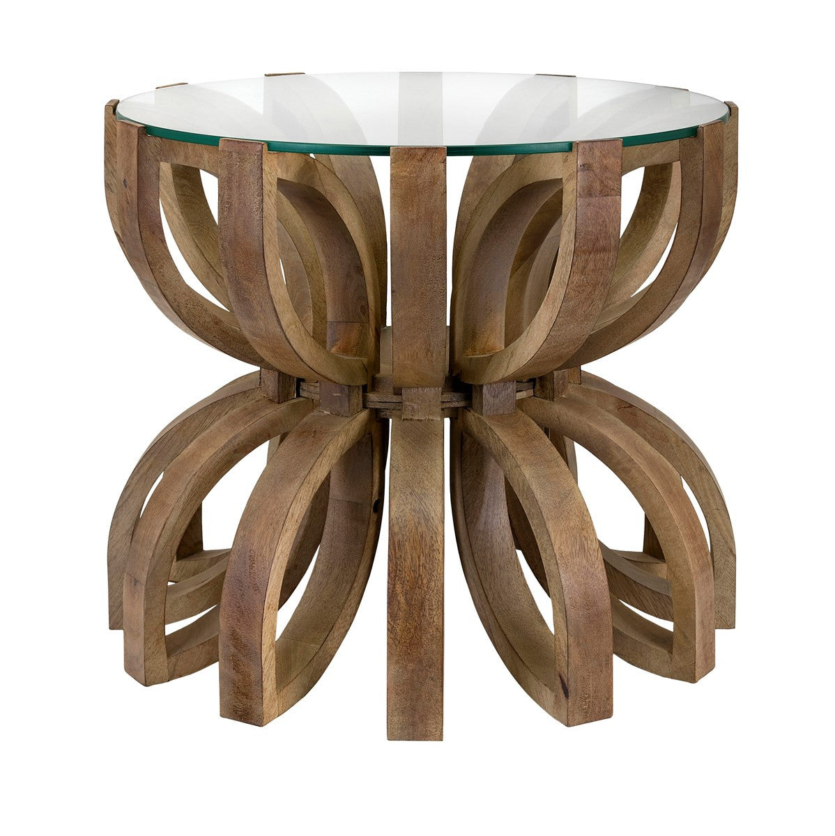 Living Room Ideas   Wood U0026 Glass Lotus Accent Table | Free Shipping    HEATHERTIQUE ...