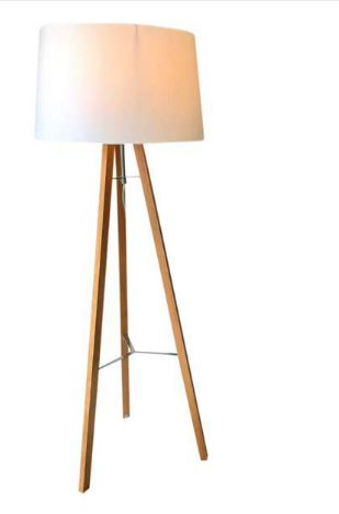 West Elm Wood Tripod Floor Lamp
