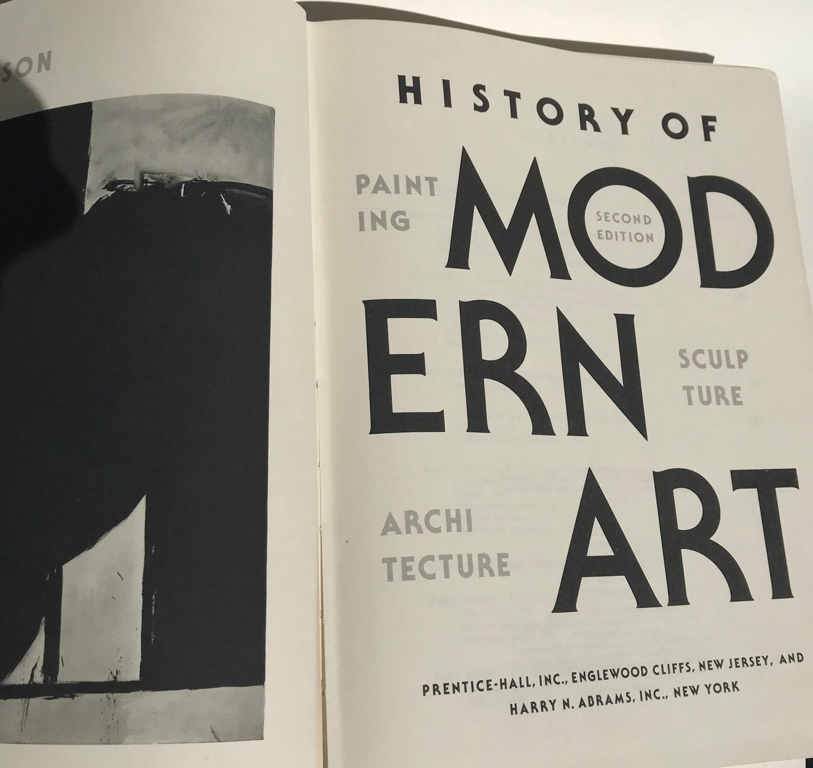 superb Huge Coffee Table Books Part - 12: Vintage History of Modern Art Oversized Coffee Table Book
