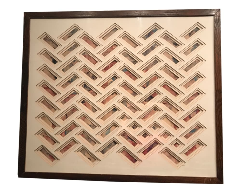 Large Geometric Wall Art | Original Handmade 3D Textile Art | Wall Hangings  | Vintage Art | Collage | Mixed Media | Living Room Art