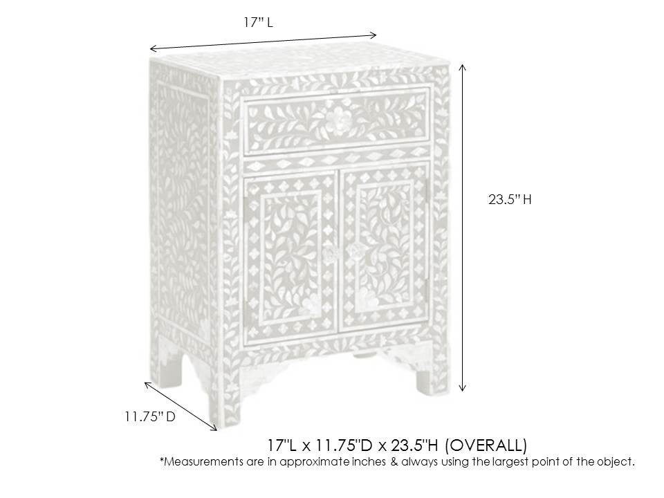 Delicieux Bone Inlay Furniture   Pink Nightstand Side Table Floral Pattern | Free  Shipping