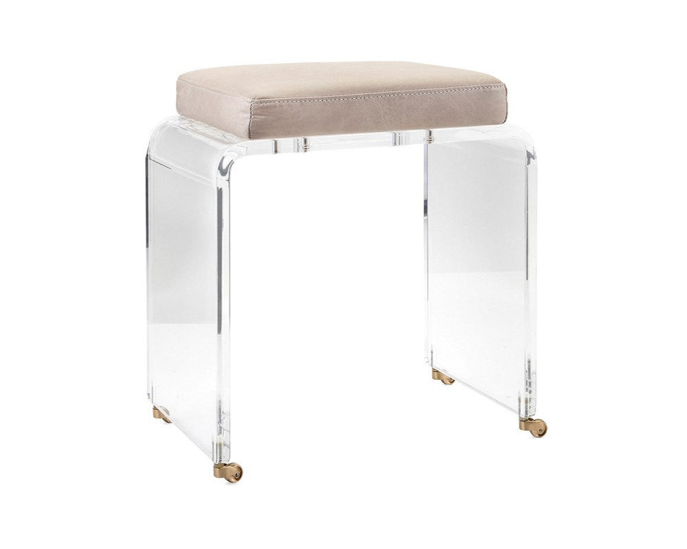 Lucite Vanity Chair Lucite And Nickel Vanity Swivel