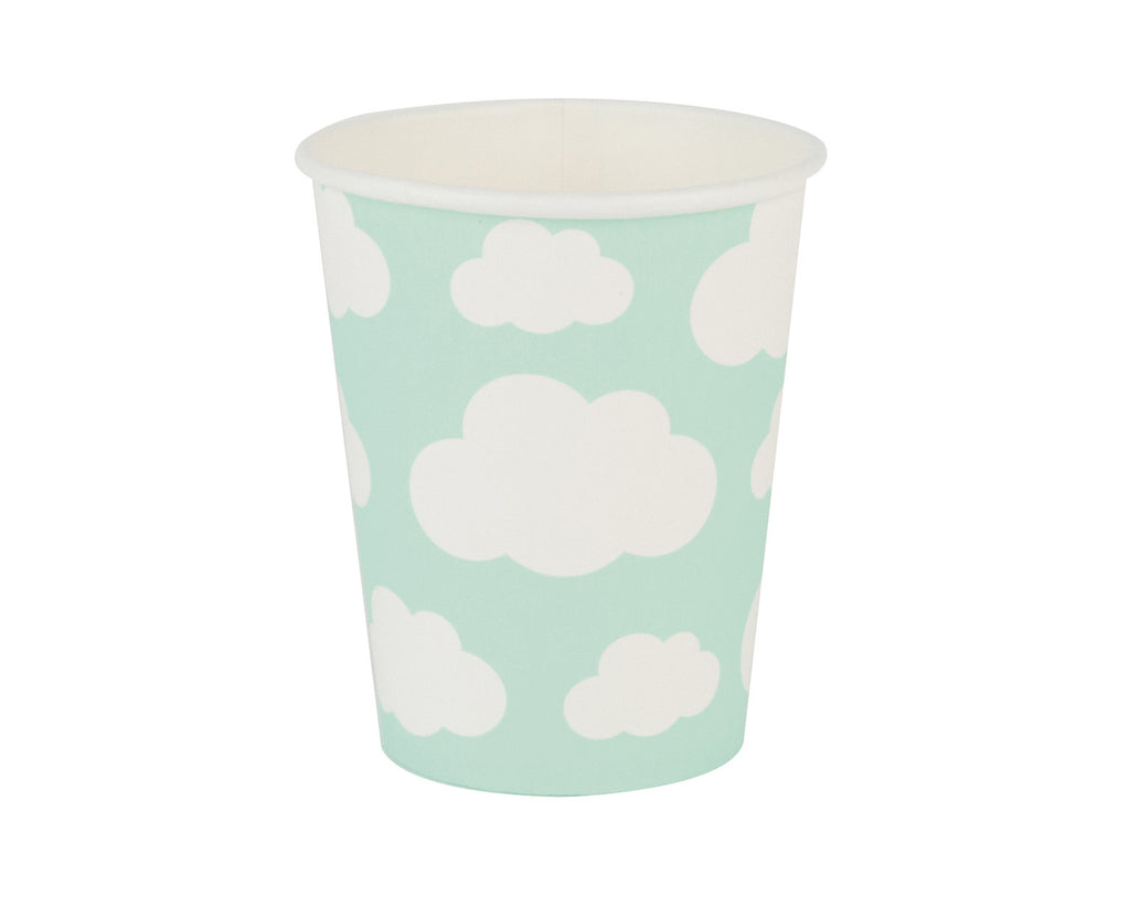 Aqua cloud Paper Cups