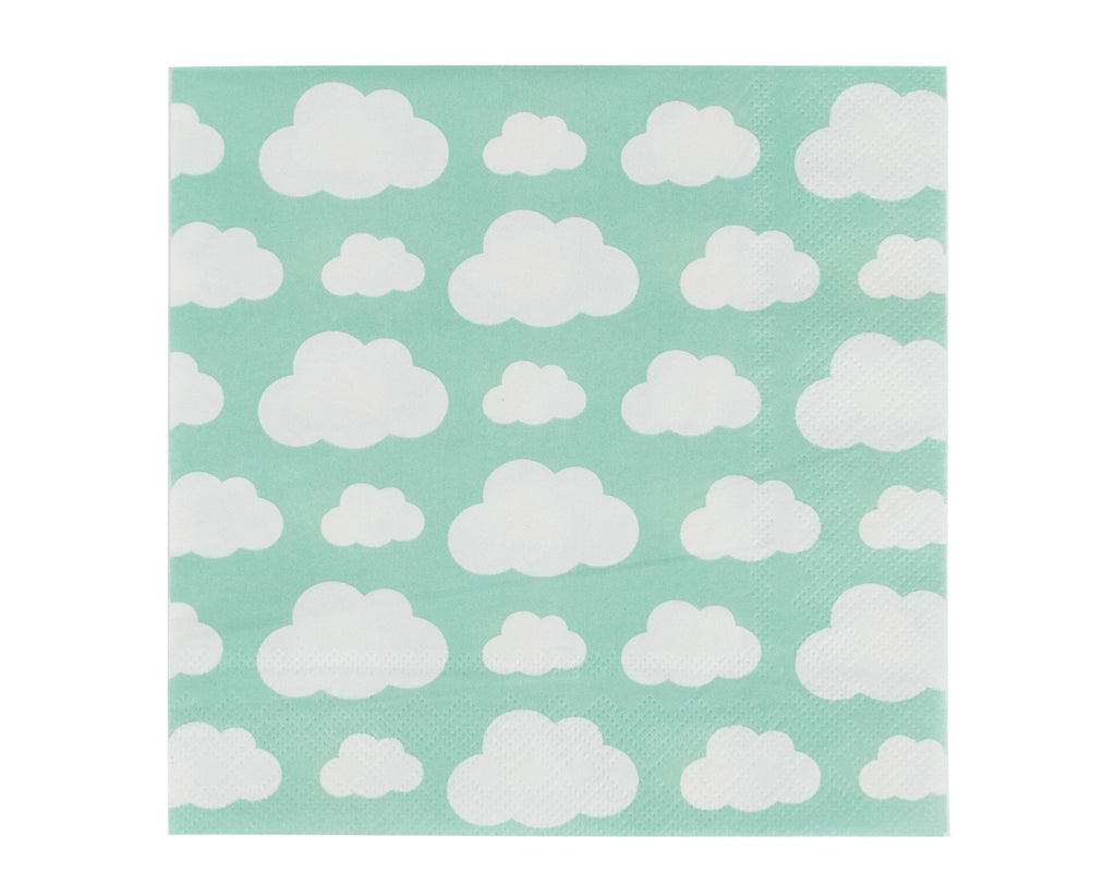 Aqua cloud Paper napkins
