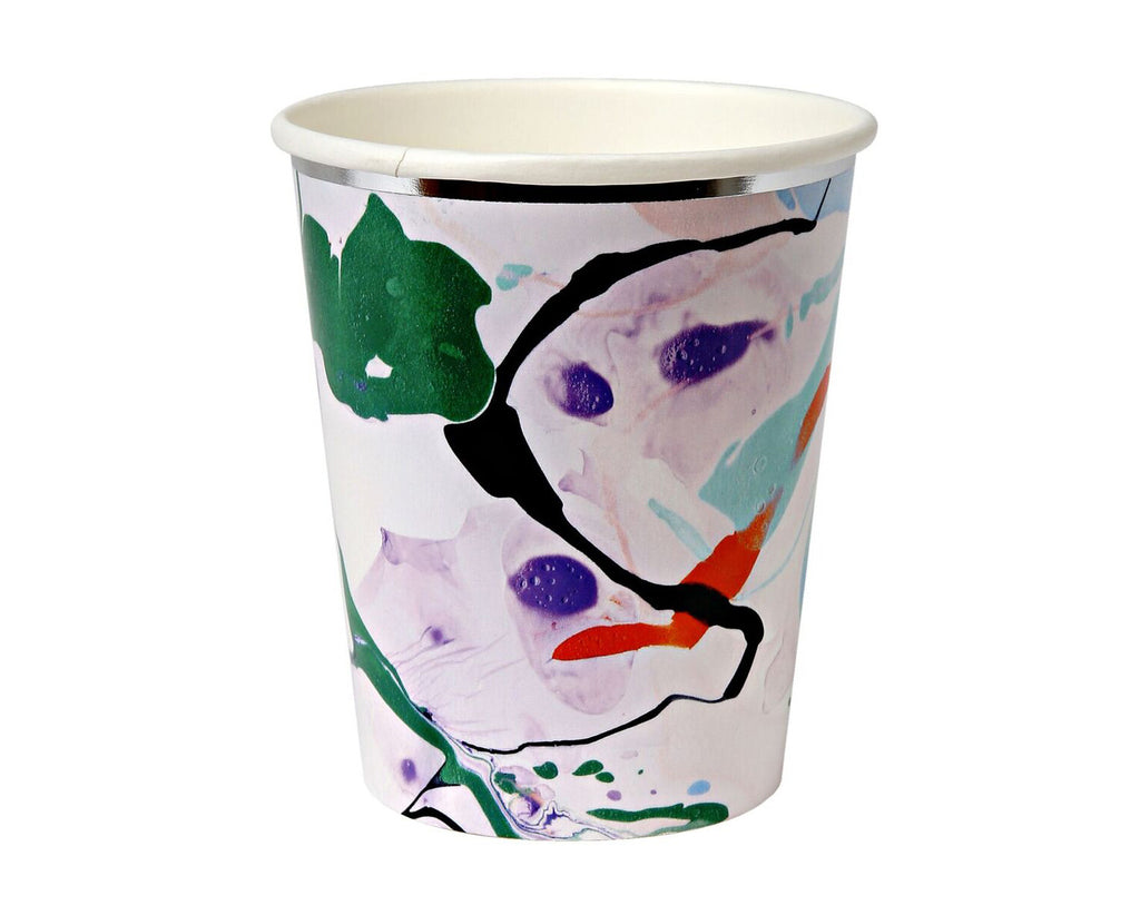 Marble paper cups