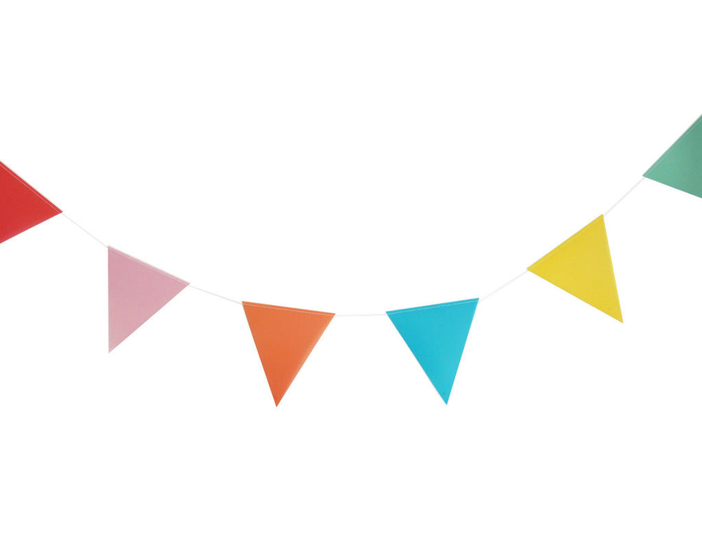 Multi coloured paper bunting
