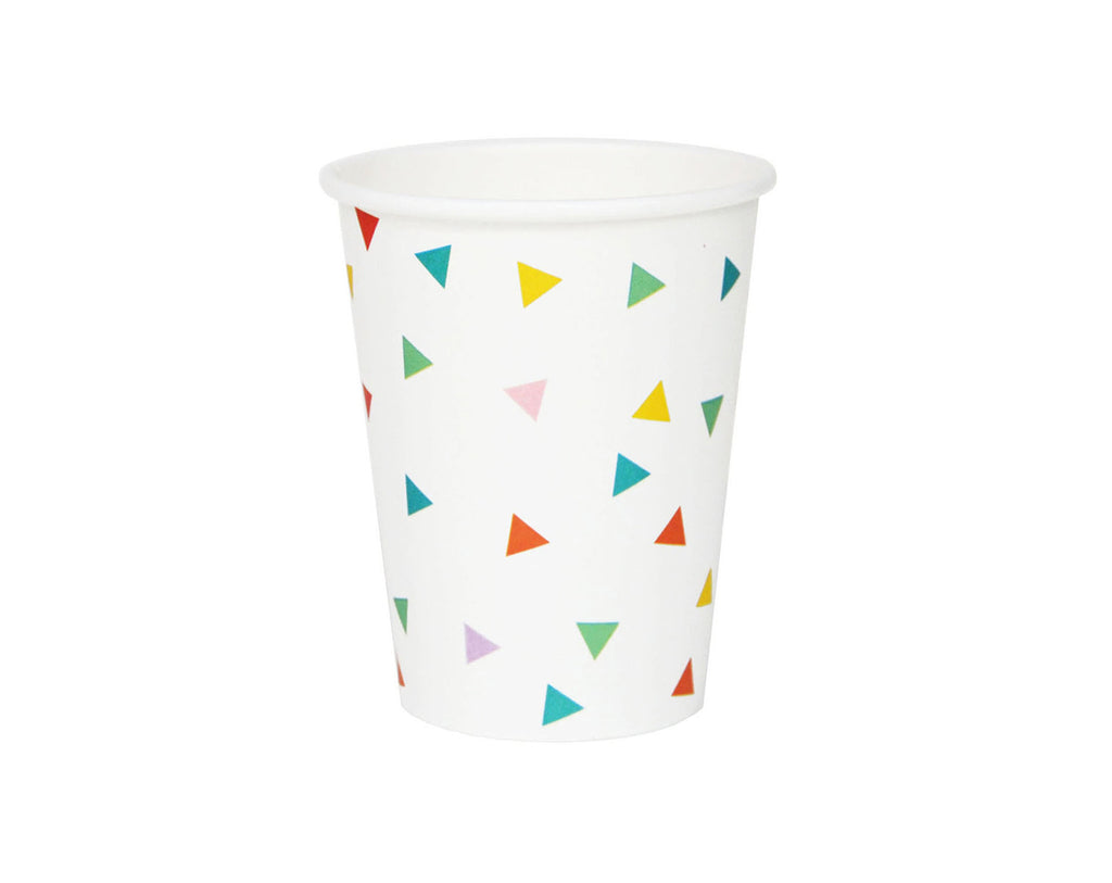 Multi coloured triangles Paper Cups