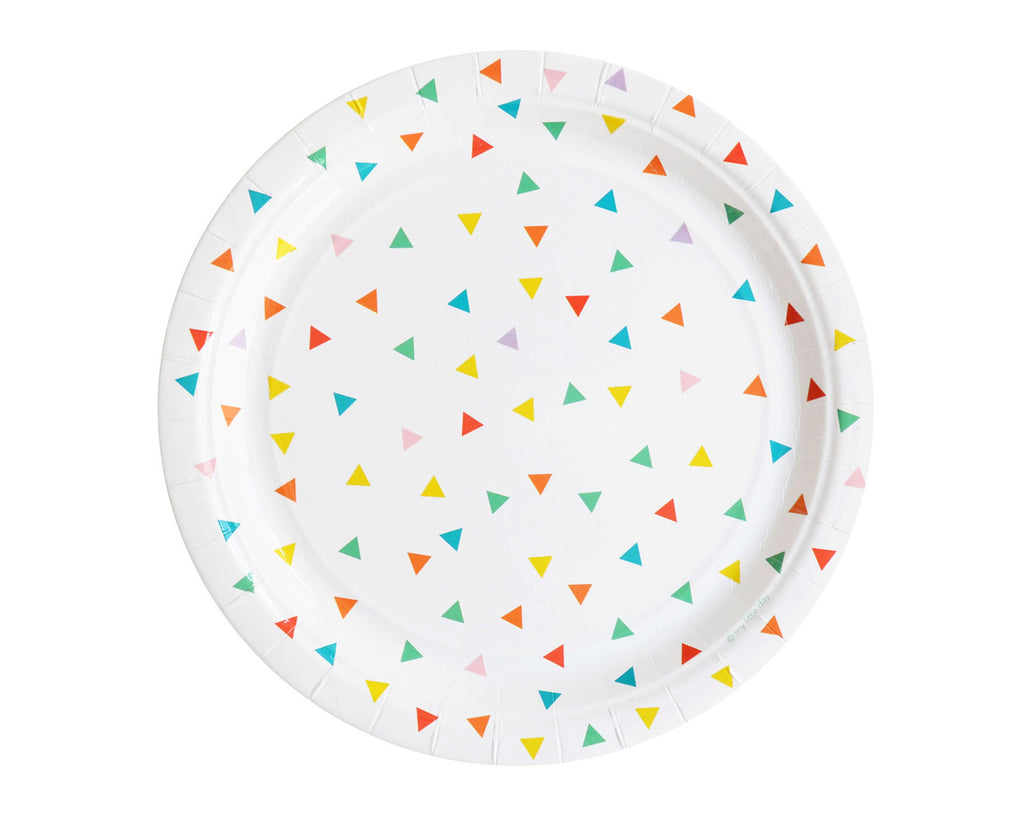 Multi triangle paper plates
