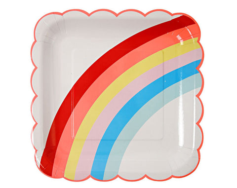 Rainbow party plate
