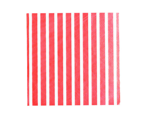 Red stripe Paper napkins