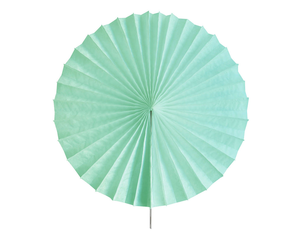 Tissue paper fan Aqua green