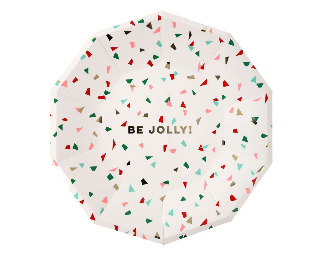 Be Jolly Confetti Large Plate