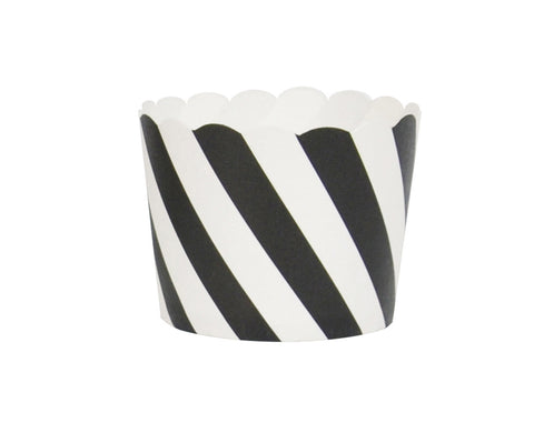 Black striped cupcake liners