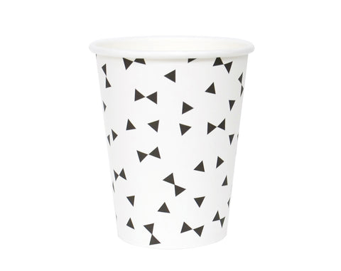Paper Cups Black bows