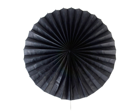 Tissue paper fan Black