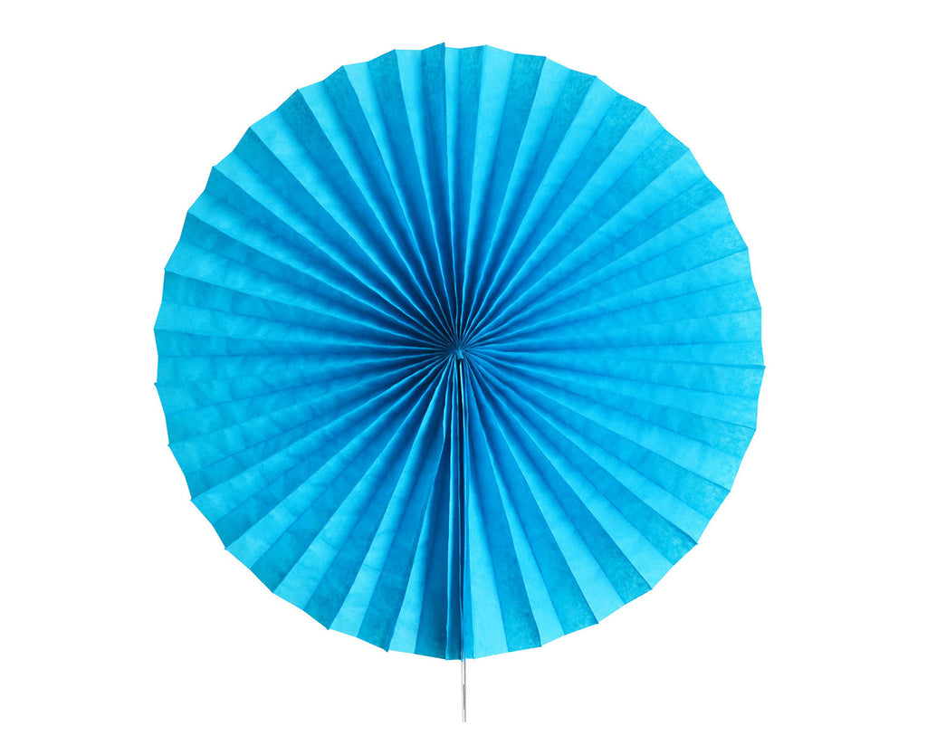 Tissue paper fan Blue