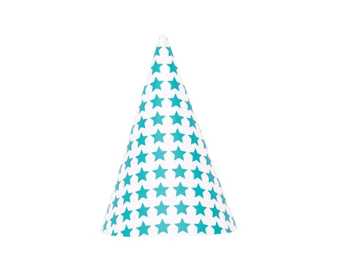 Blue star party hats