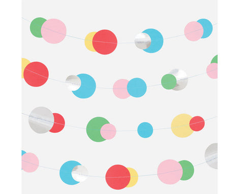Multicoloured & foil bubbles garland